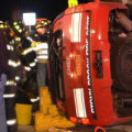 Late Night Crash Injured Fire Department Chief and two Others