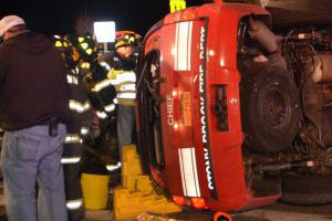 Late Night Crash Injures Fire Department Chief & two Others